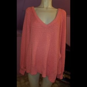 Free People Chunky Knit Pullover Sweater size M